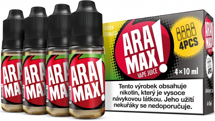 LIQUID ARAMAX 4PACK GREEN TOBACCO 4X10ML-18mg