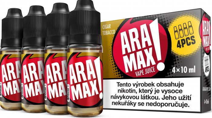 LIQUID ARAMAX 4PACK CIGAR TOBACCO 4X10ML-3mg