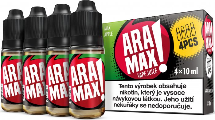 LIQUID ARAMAX 4PACK MAX APPLE 4X10ML-3mg