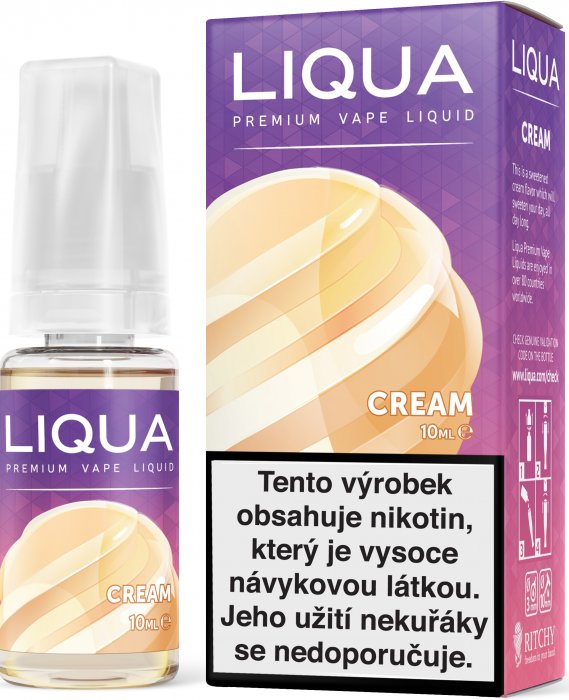 LIQUID LIQUA CZ ELEMENTS CREAM 10ML-18mg(SMETANA)