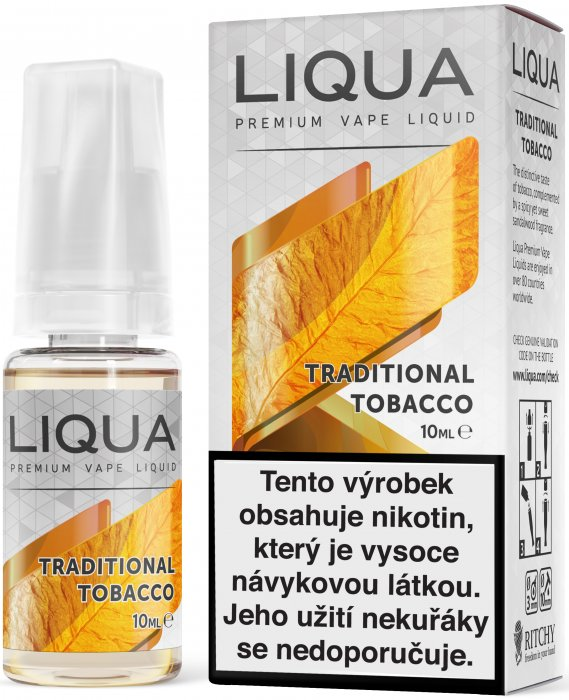 LIQUID LIQUA CZ ELEMENTS TRADITIONAL TOBACCO 10ML-6mg(TRADIČNÍ TABÁK)