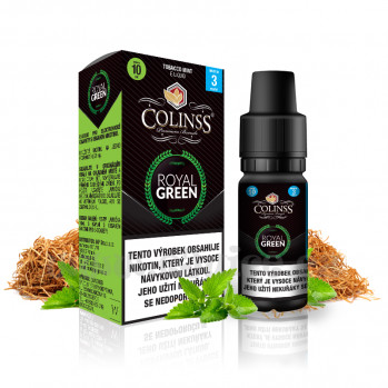 E-liquid Colinss 10ml / 12mg: Royal Green (Tabák s mátou)