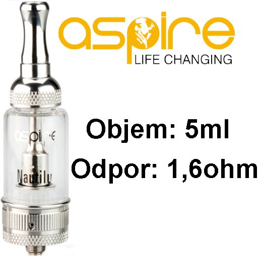 ASPIRE NAUTILUS BVC CLEAROMIZER 5ML