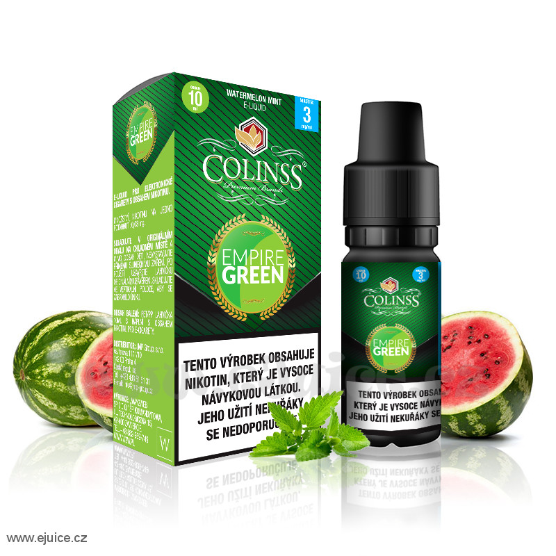 E-liquid Colinss 10ml / 0mg: Empire Green (Meloun s mátou)