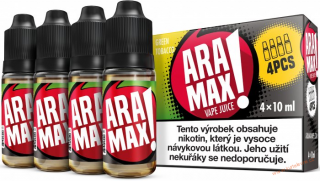 LIQUID ARAMAX 4PACK GREEN TOBACCO 4X10ML-3mg