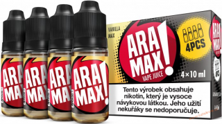 LIQUID ARAMAX 4PACK VANILLA MAX 4X10ML-3mg