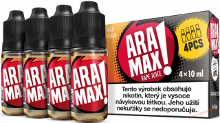 LIQUID ARAMAX 4PACK MAX PEACH 4X10ML-3mg