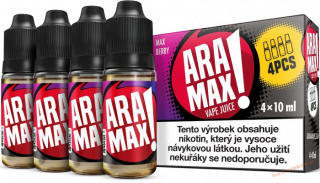 LIQUID ARAMAX 4PACK MAX BERRY 4X10ML-6mg