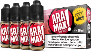 LIQUID ARAMAX 4PACK MAX STRAWBERRY 4X10ML-6mg
