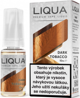LIQUID LIQUA CZ ELEMENTS DARK TOBACCO 10ML-3mg(SILNÝ TABÁK)