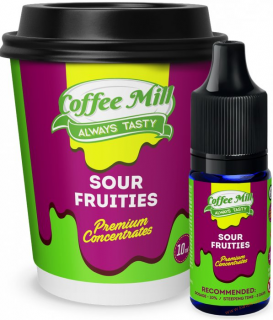 PŘÍCHUŤ COFFEE MILL 10ML SOUR FRUTTIES