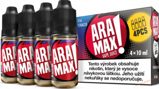 LIQUID ARAMAX 4PACK USA TOBACCO 4X10ML-12MG