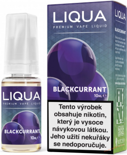 LIQUID LIQUA CZ ELEMENTS BLACKCURRANT 10ML-12MG (ČERNÝ RYBÍZ)
